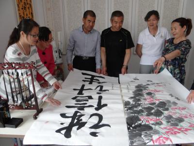 建设社区威廉希尔登录协会开展书画征集活动