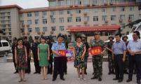 昌吉州计生协领导慰问州政府综合楼值班民警和武警官兵