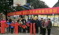 铜陵市天井湖社区计生协开展迎新春送春联及书画展活动