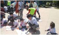和平区北市场街道皇寺路社区威廉希尔登录协开展母亲节亲子活动