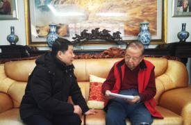 山西省计生协李汝德副会长看望卢功勋会长