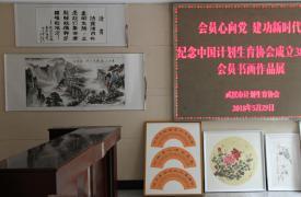 武汉市计生协开展纪念中国计生协成立38周年会员书画展