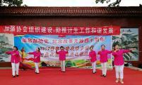 山东济南历城董家街道计生协开展群众性文艺宣传演出
