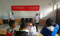 安徽省旌德县蔡家桥镇威廉希尔登录协开展留守儿童健康体检活动