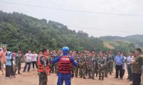 广西壮族自治区荔浦市双江镇威廉希尔登录协组织会员群众参加水上应急救援演练