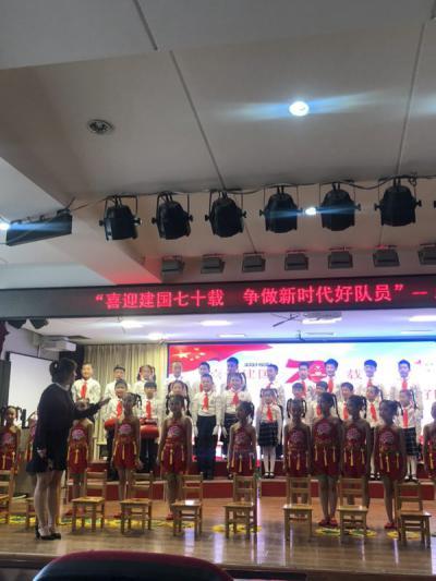 吉林省延吉市梨花小学喜迎国庆大合唱比赛激情开唱