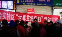 云南省昆明市盘龙区金辰街道计生协开展防艾宣传周活动